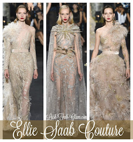 See the stunning designs from Ellie Saab Couture runway show in Paris.
