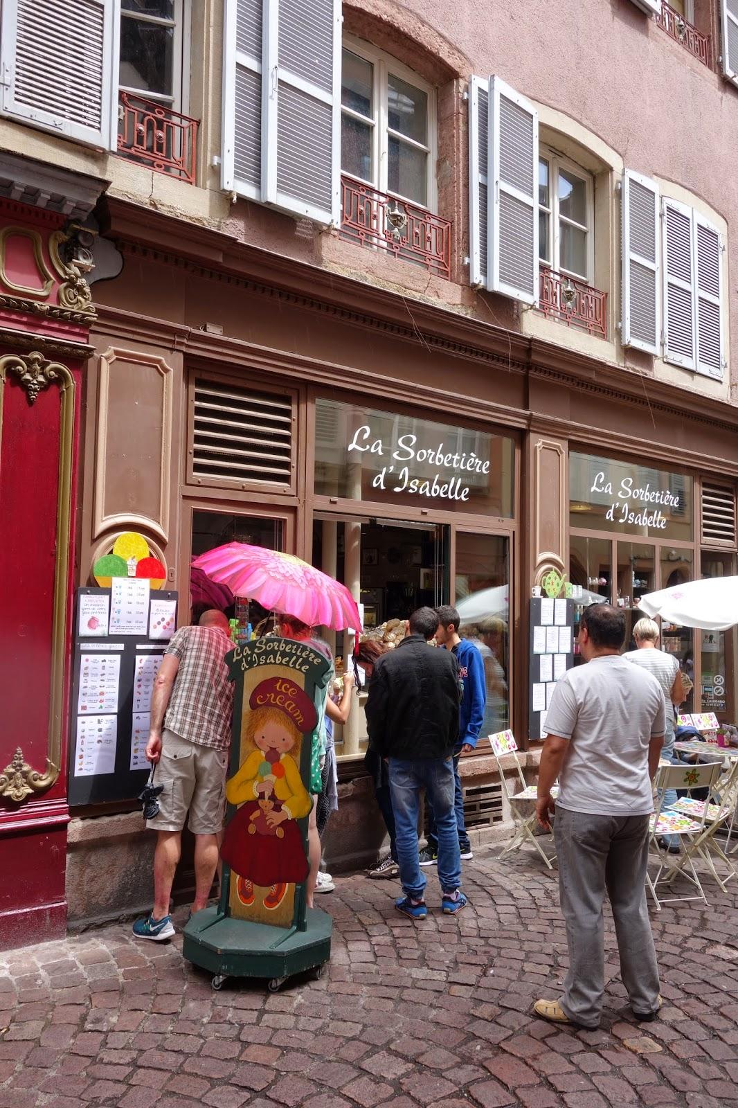 Кольмар - улица Торговцев - мороженое