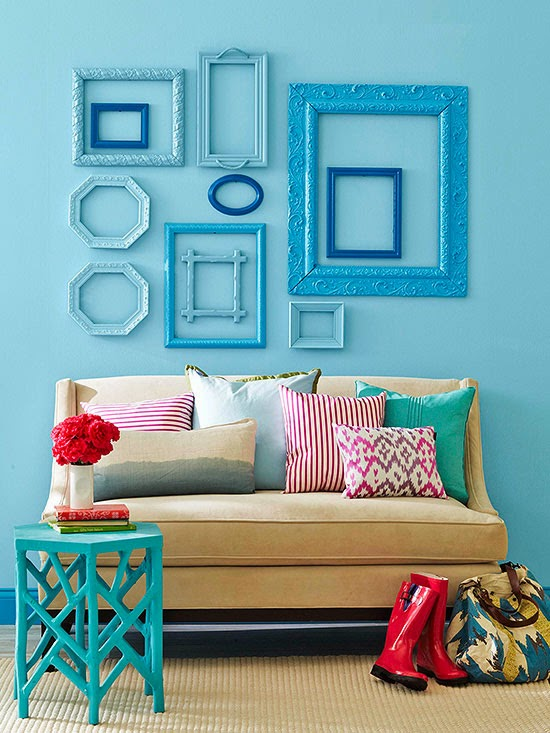 Attractive Spray Paint Decor Ideas Part - 11: ... If The Art Inside A Frame Isnu0027t Your Style, A Pretty Frame Is Still A  Secondhand Score. Round Up A Series Of Pretty Frames, Remove The Art, Spray  Paint ...