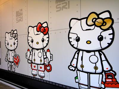 Cute Hello Kitty Robot Wall