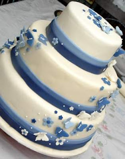 Special Blue Wedding Cakes Ideas