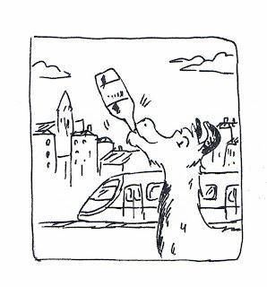 serge lama bordeaux tram dessin