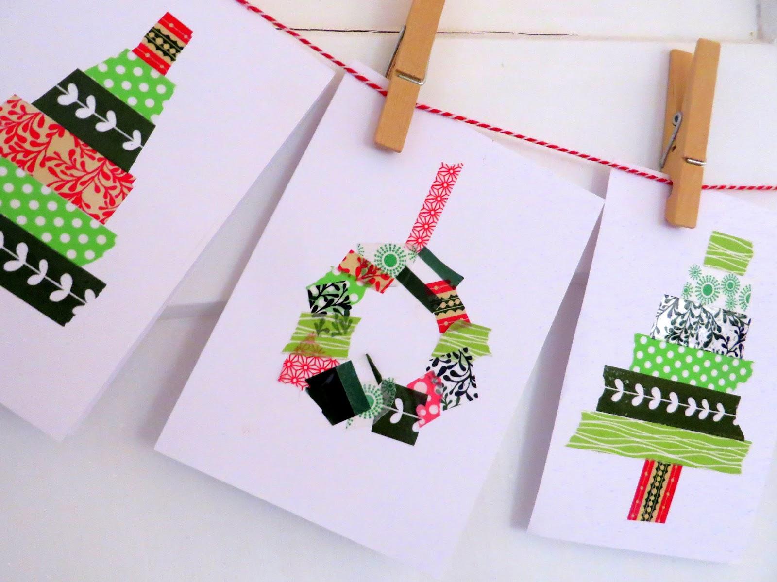 Einfache Weihnachtskarten