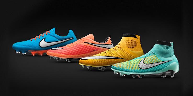 Conocé la nueva línea de botines coloridos Nike