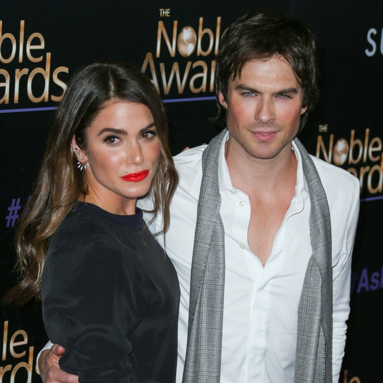 Nikki Reed and Ian Somerhalder are a glamorous couple at the 2015 Noble Awards