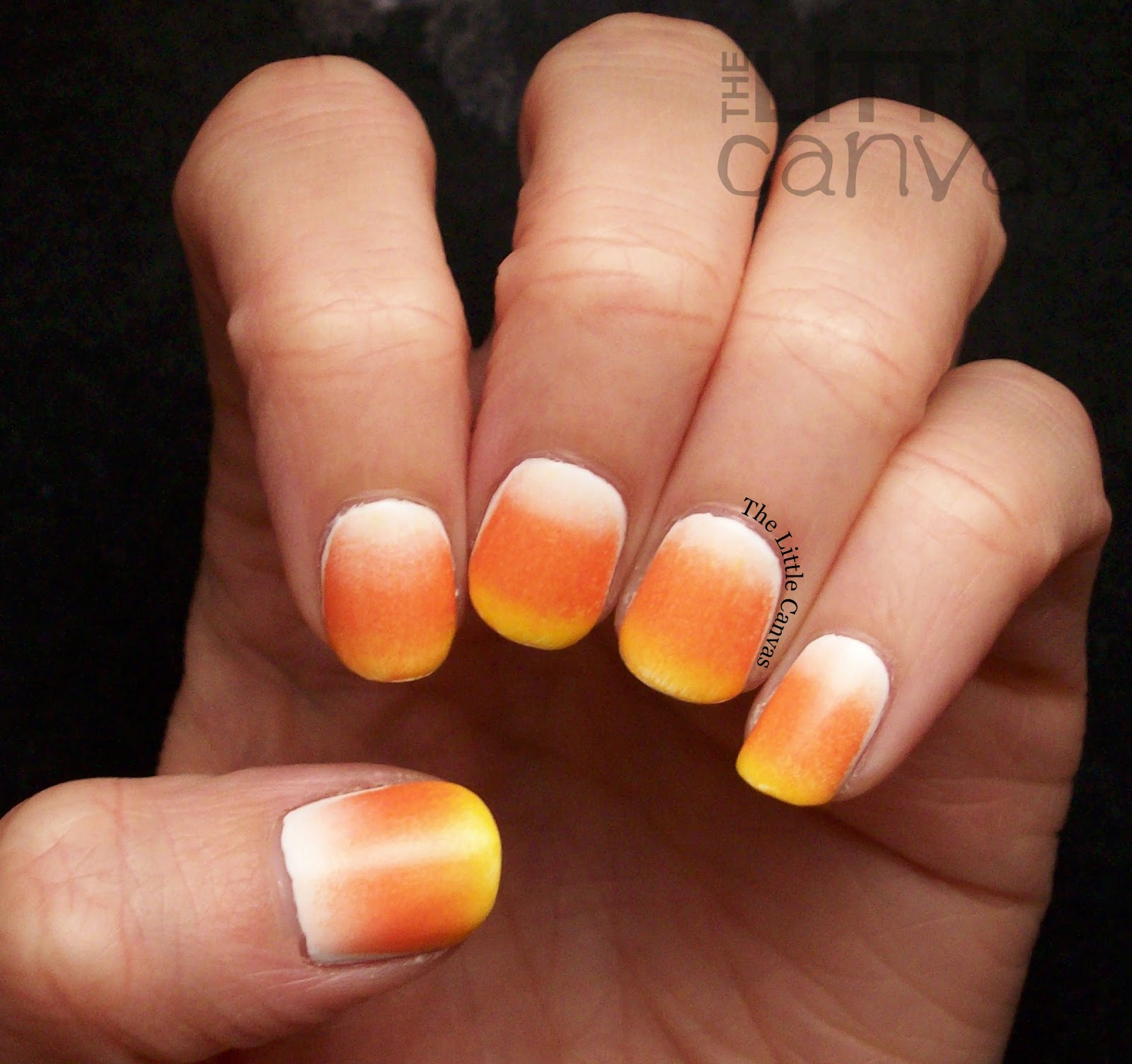 Candy Corn Nail Art The Little Canvas