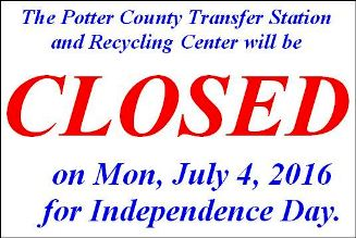 7-4 Potter County Recycling & Transfer Station Closed