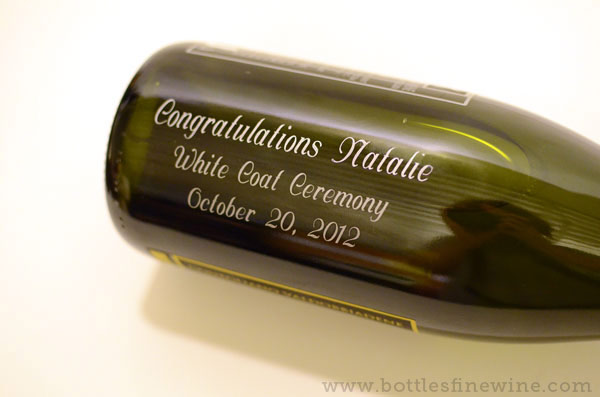 providence custom wine bottle engraving