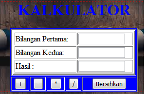 Membuat kalkulator Dengan PHP