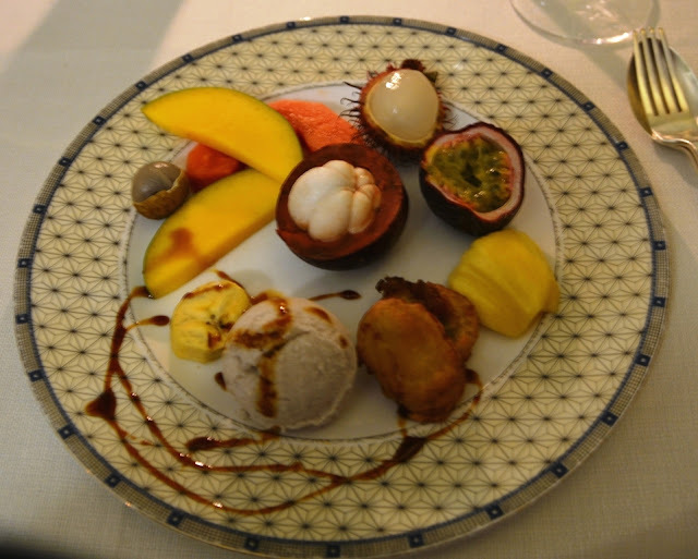 Tropical fruit dessert Restaurant Raffles