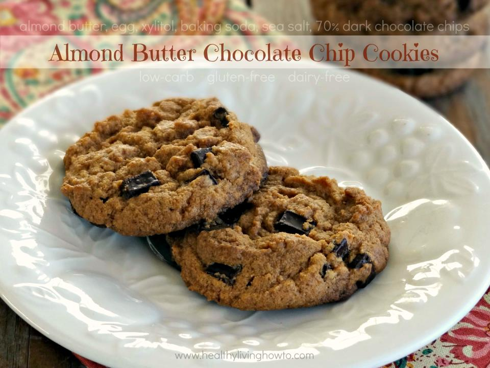 ... LOW-CARBING BY JENNIFER ELOFF: Almond Butter Chocolate Chip Cookies