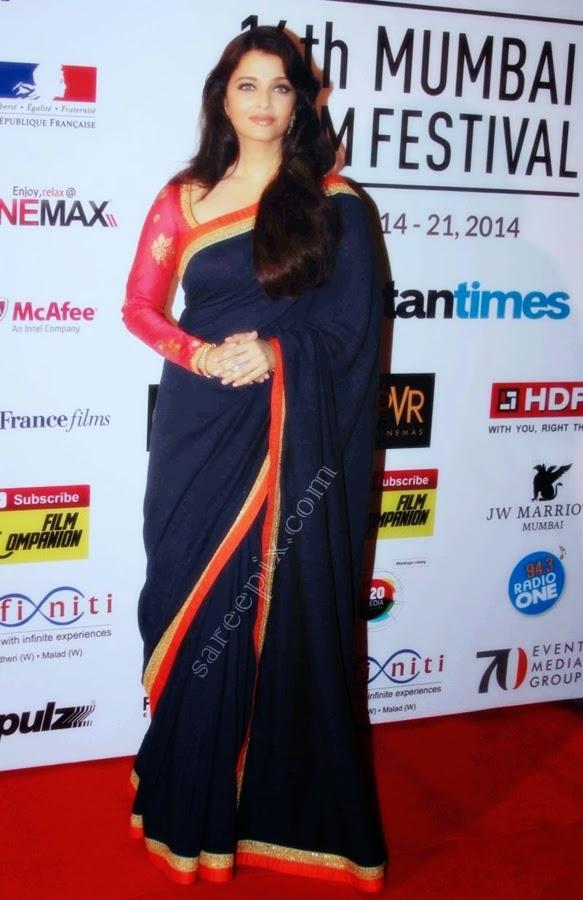 aishawarya-rai-saree-16th-mumbai-film-festival