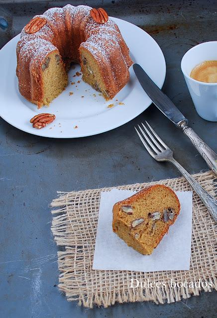 Bundt cake de nueces pecanas - Dulces bocados