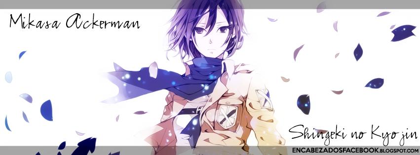 Mikasa-Ackerman en cover facebook