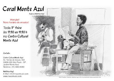 Cora Monte Azul (cartaz junho 2012) - Novo horário