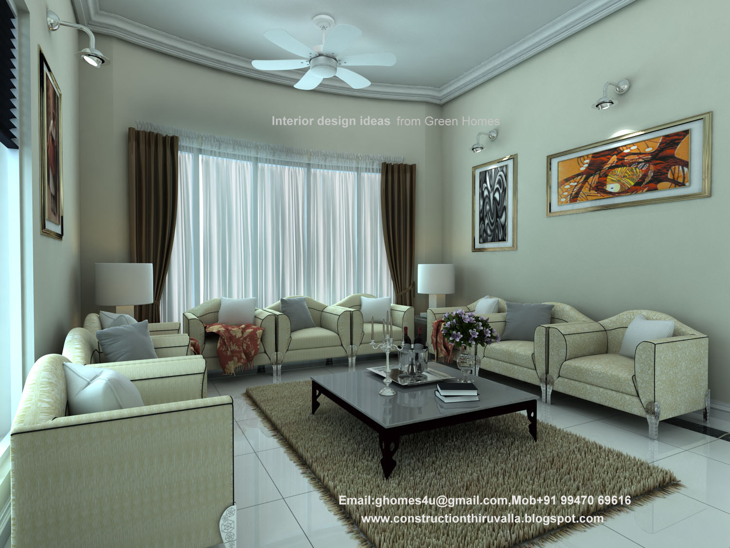 Living Room Interior Drsign Kerala Home