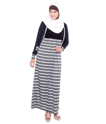 Model Baju Terusan Wanita Bahan Rayon Warna Hitam