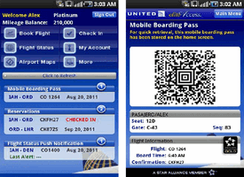 United Airlines Android application now support both United and Continental flights