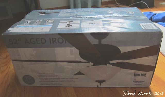 "52"" aged iron ceiling fan, auction, bid, price"