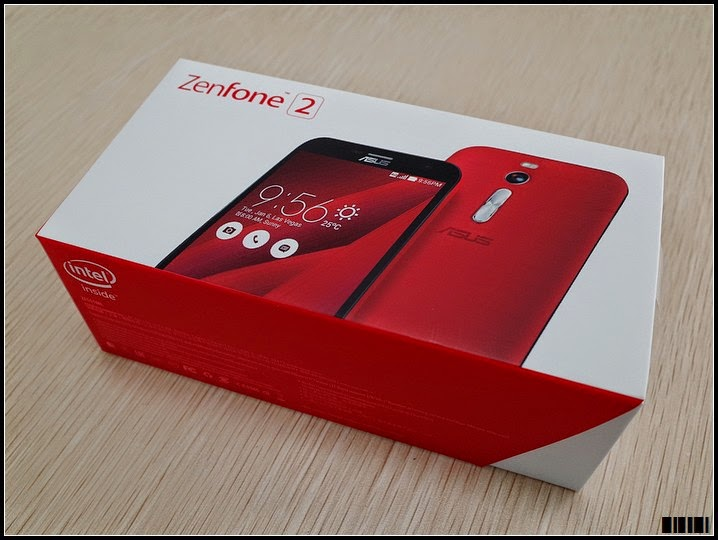 Unboxing ASUS Zenfone 2 Main RED Box