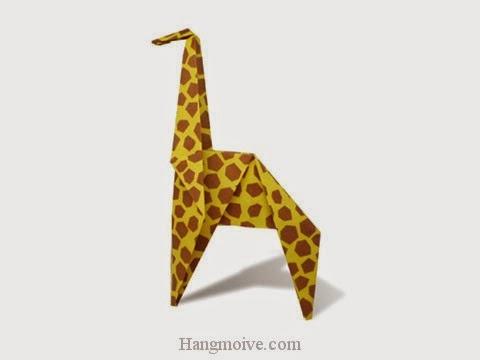 Cách gấp, xếp con Hươu Cao Cổ kiểu mới bằng giấy origami - Video hướng dẫn xếp hình - How to make a Giraffe