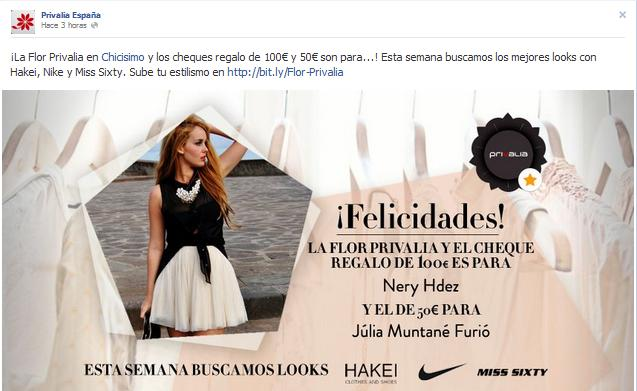 nery hdez, ganadora privalia, concurso chicisimo, winner contest