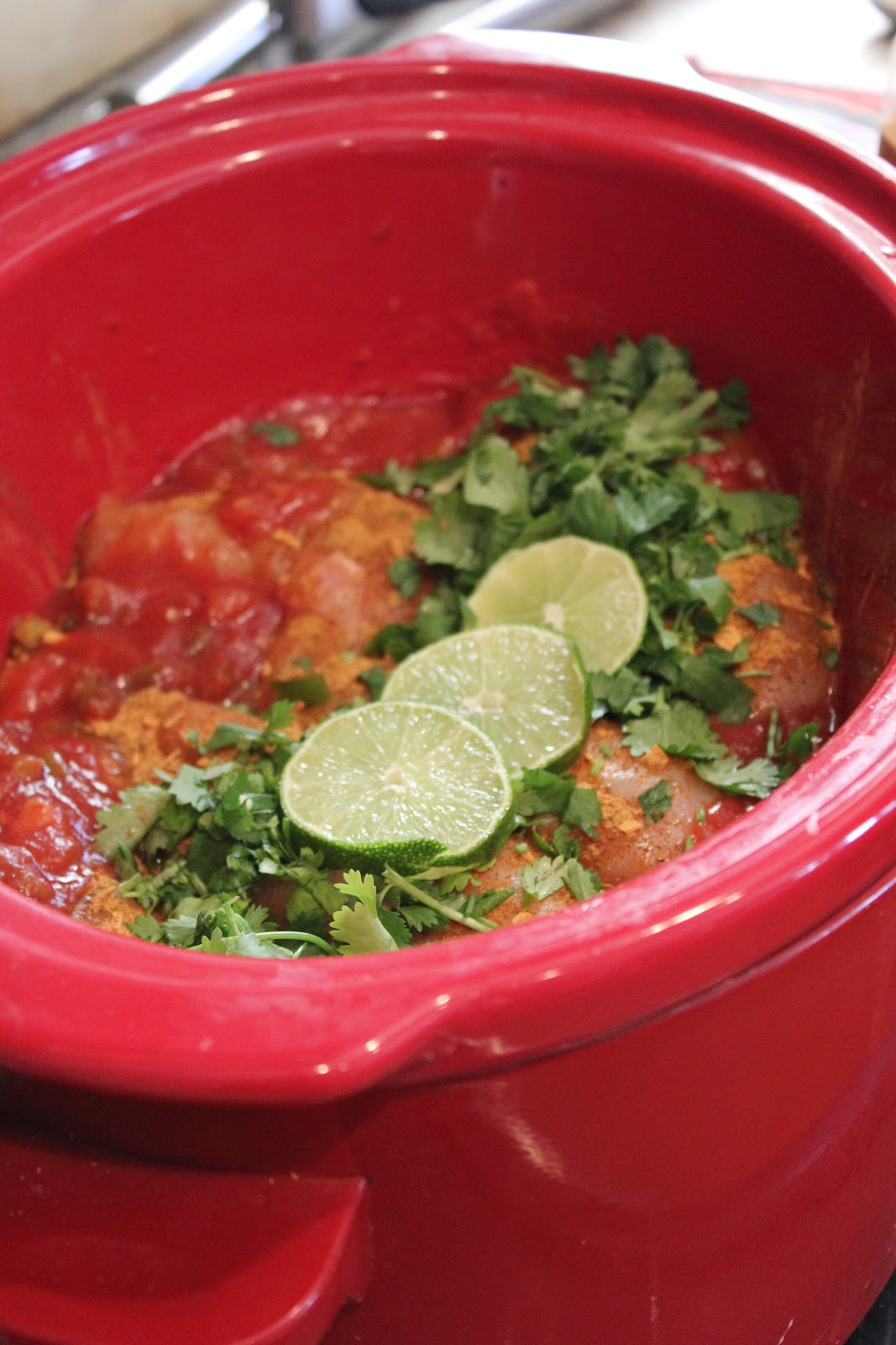 and cilantro cilantro lime chicken with avocado salsa slow cooker bbq ...