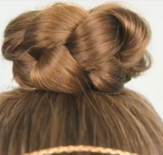simple braided bun hair style for girls