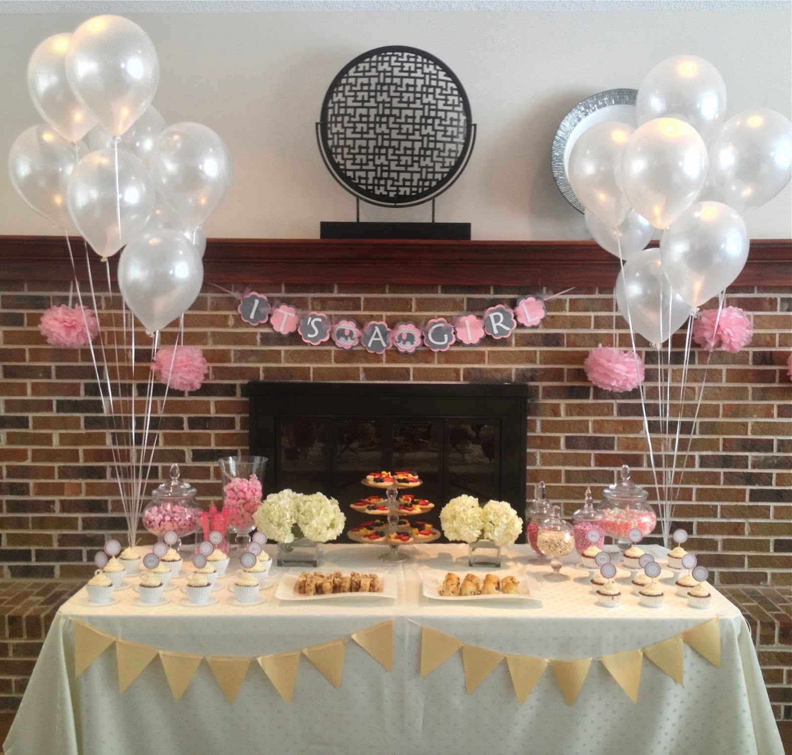 Wonderful Pink And Grey Tea Party Themed Baby Shower