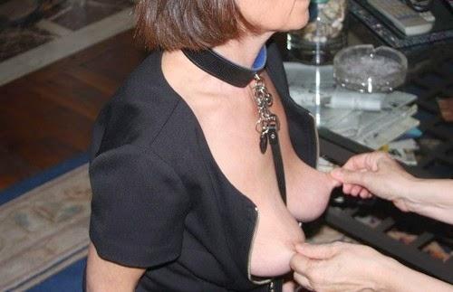 Nipple squeeze submissive slut