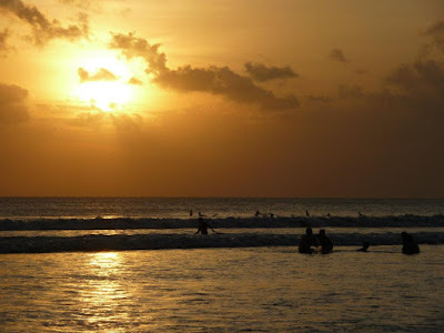 Bali Travel: Lovely Sunset at Kuta Beach