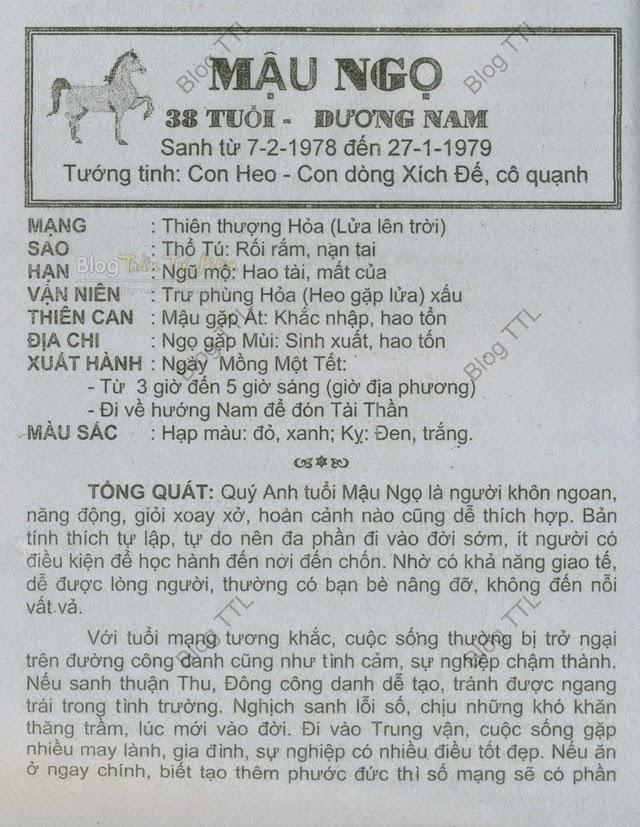 Xem Tu Vi Tuoi Nam Mau Ngo 1978 Nam 2015 | Consejos De Fotografía