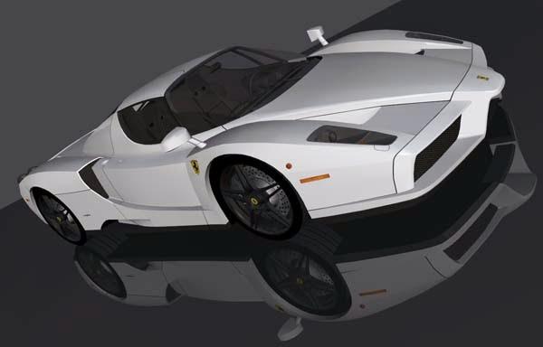 Foto 3D Mobil Keren Ferrari Enzo White