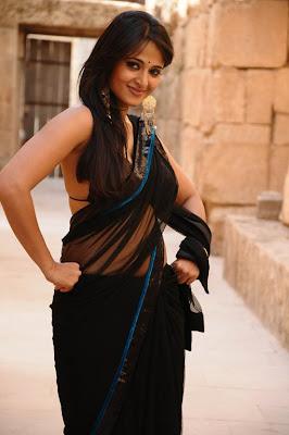 Anushka hot Saree stills