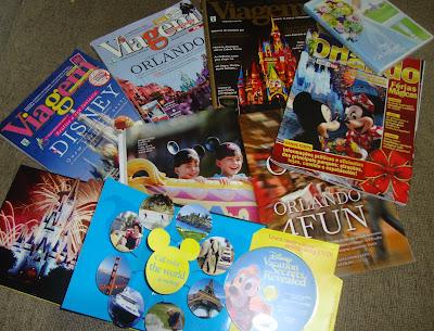 Material de divulgação os parques da Disney