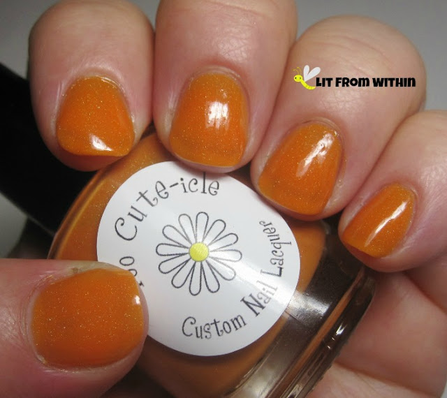 Too Cute-icle Gorgeous, an orange holo jelly.