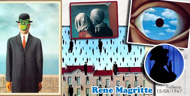 Rene Magritte, pintor surrealista fallece el 15 de agosto 1967 #TaldiacomoHoy