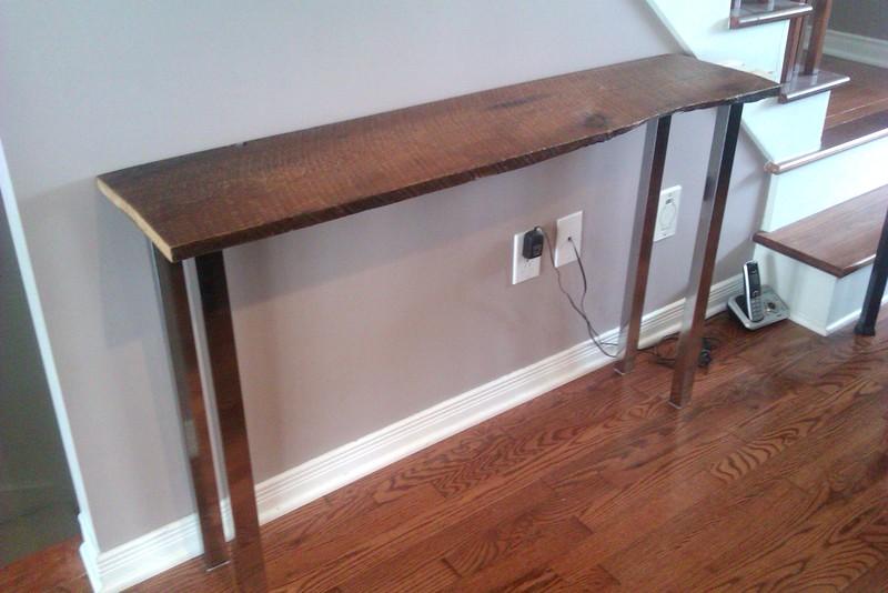 cr pe chignon projet table console rustique. Black Bedroom Furniture Sets. Home Design Ideas