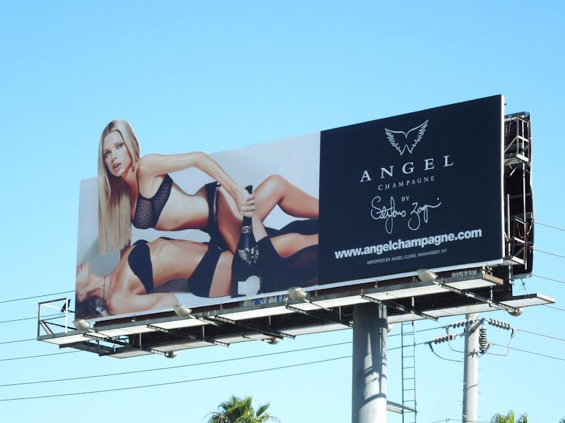 Angel Champagne billboard