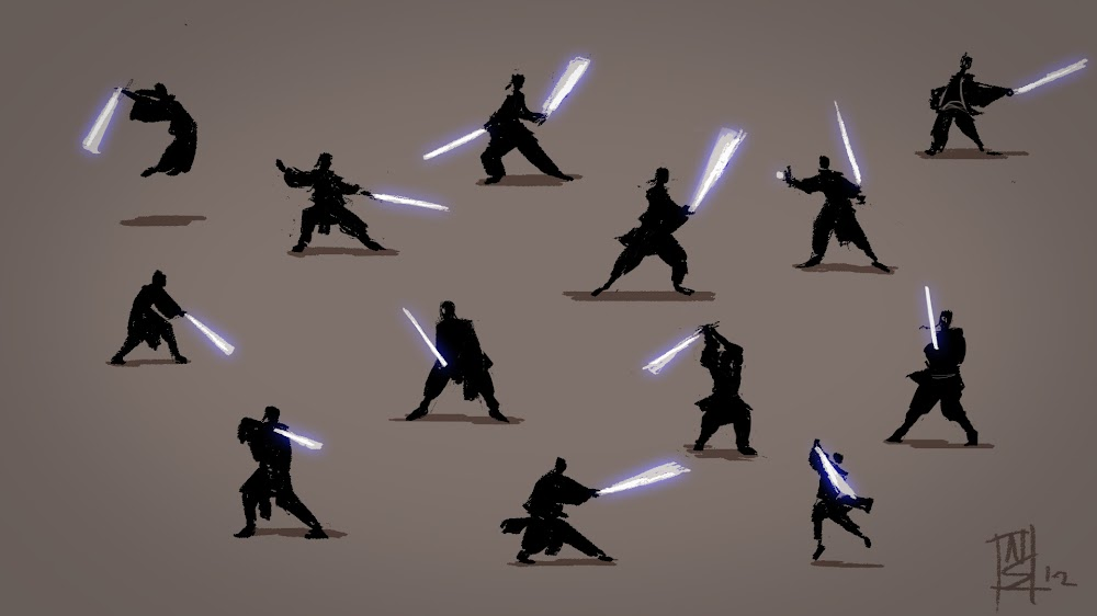 Silhouette poses with light sabers quot by nikki starostka aka