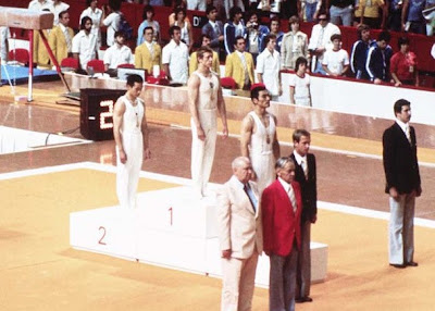 Montreal 1976 - Sawao Kato, Nikolai Andrianov y  Mitsuo Tsukahara