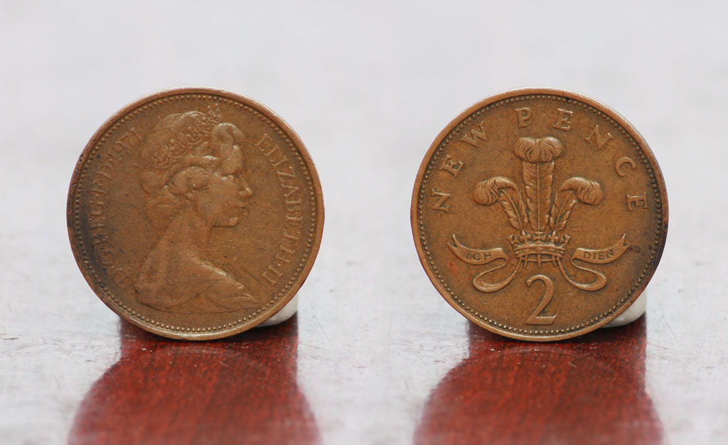 Duit syiling Great Britain 2 Pence 1971