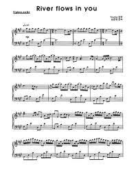 river flows in you sheet music with finger pdf