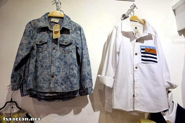 Very stylish and fashionable shirts for children at the Korean Lifestyle & Kids Boutique