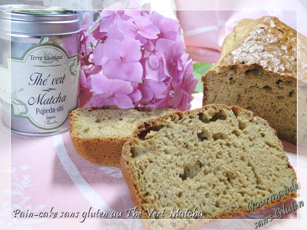 Pain cake sans gluten au thé vert matcha