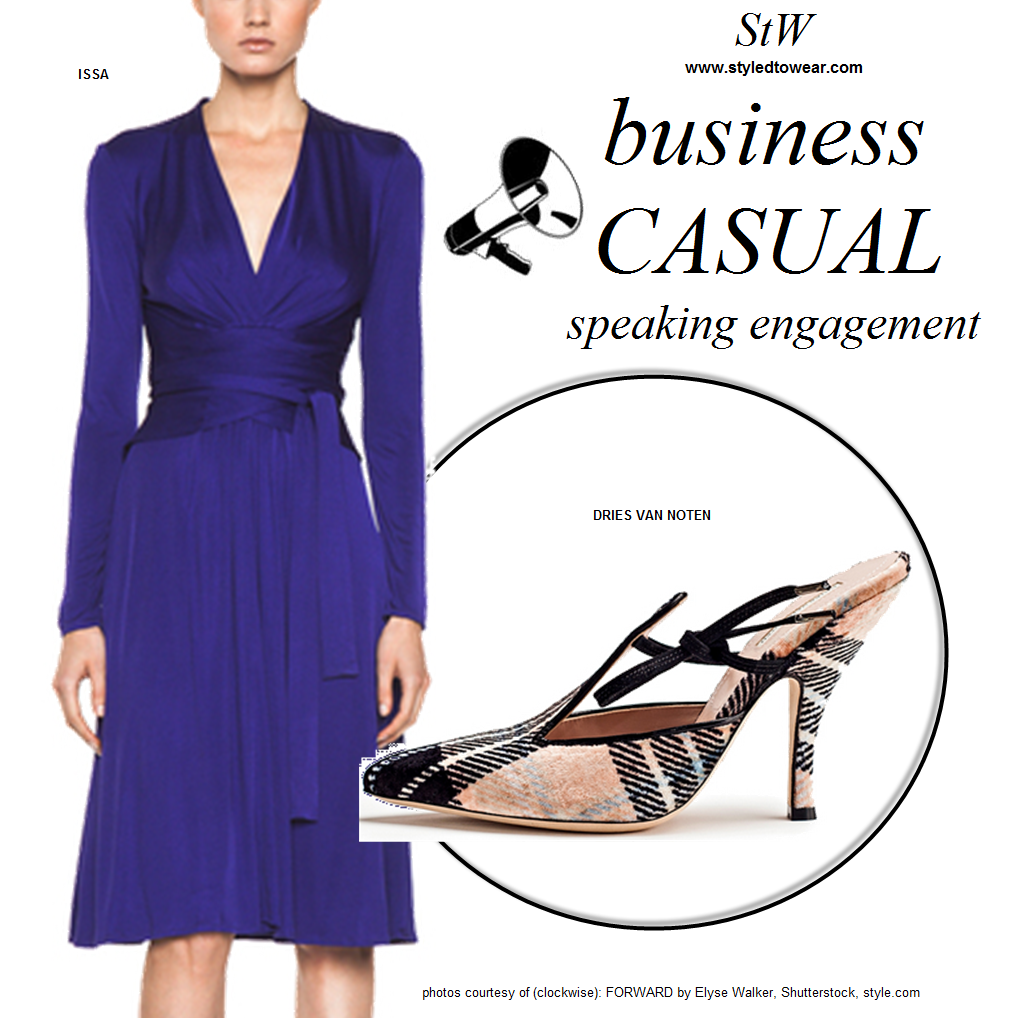 What to wear for a business casual panel discussion