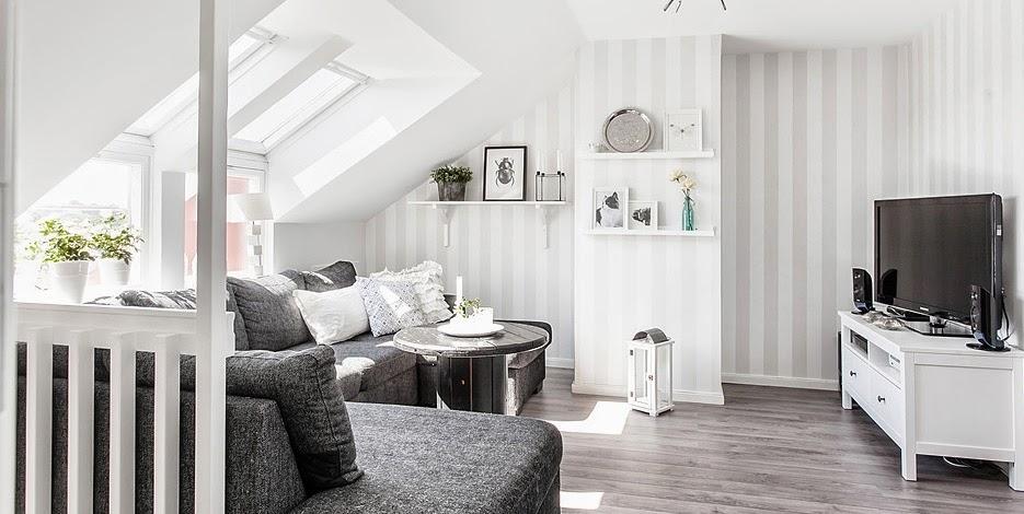 Una casa familiar en dos alturas la revista de for Muebles pintados a rayas