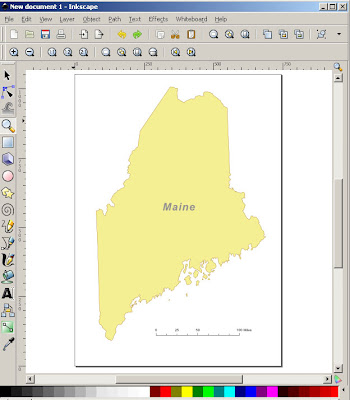 Maine map silhouette