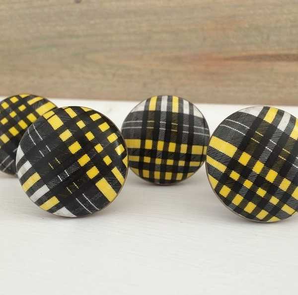 Land of Nod Plaid Knobs