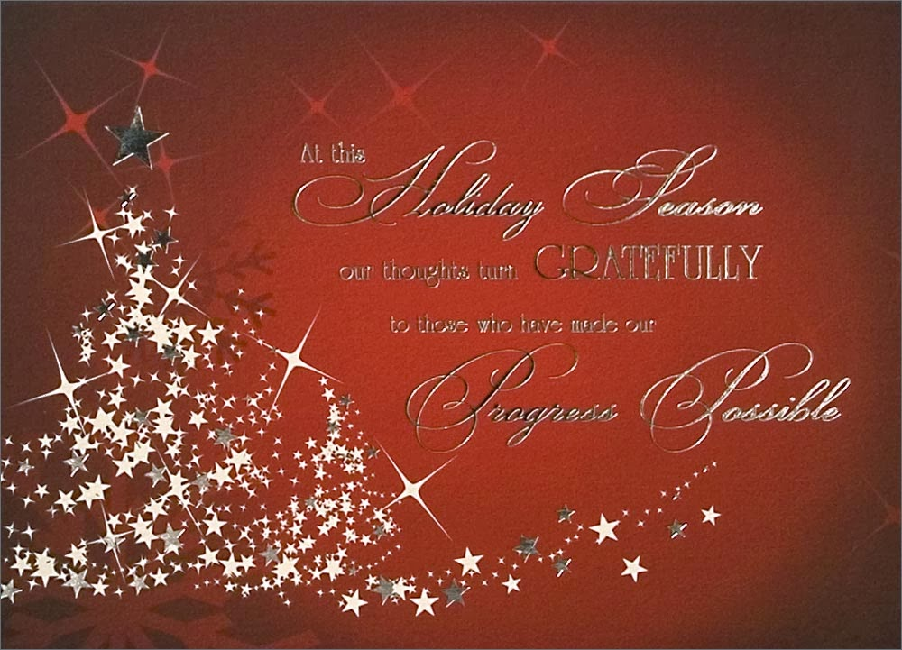 Popular business christmas cards attracting business for Sayings for business christmas cards